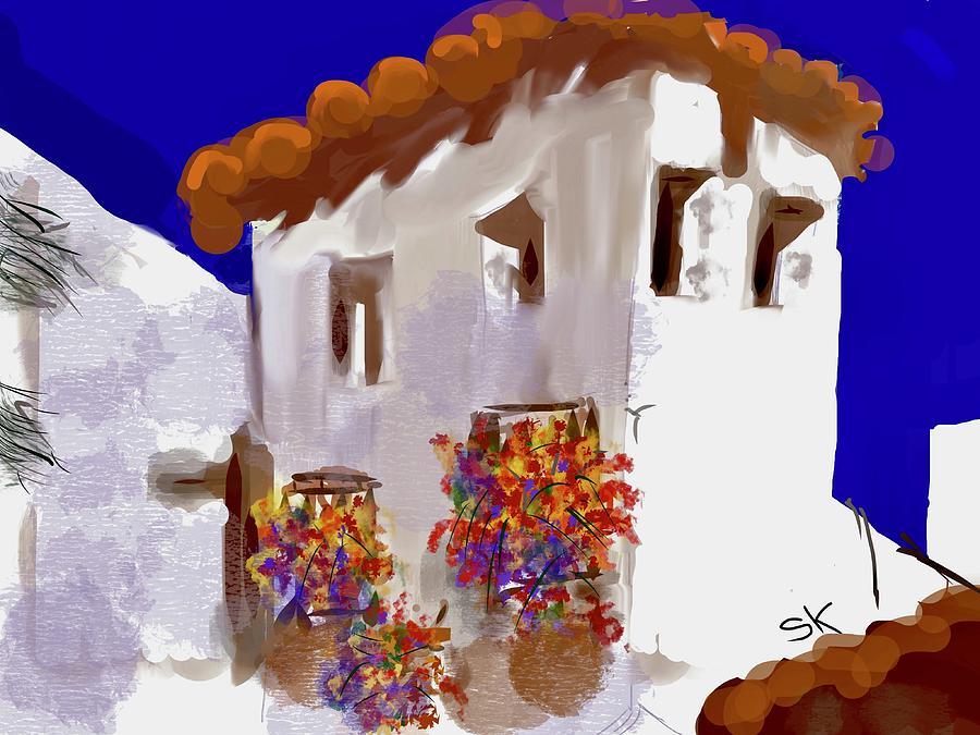 Las Casuelas Courtyard by Sherry Killam