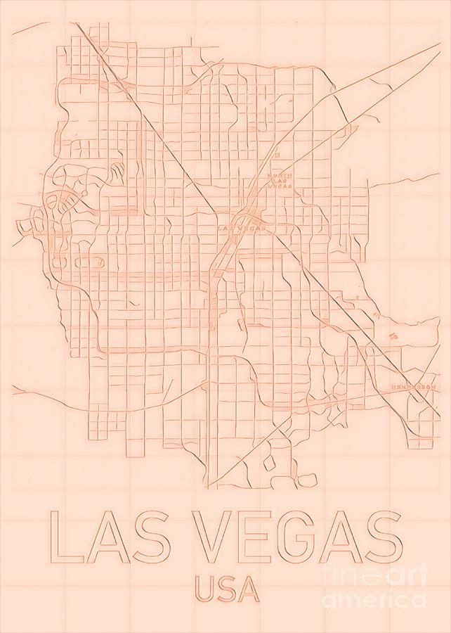 Las Vegas Blueprint City Map alt by HELGE