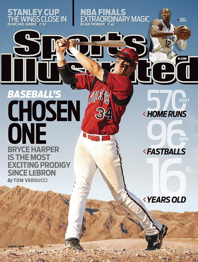 Las Vegas High School Bryce Harper Sports Illustrated Cover Photograph by Sports Illustrated