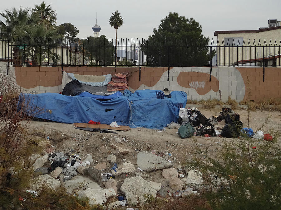 Homeless Photograph - Las Vegas Homeless 2 by Bruce IORIO