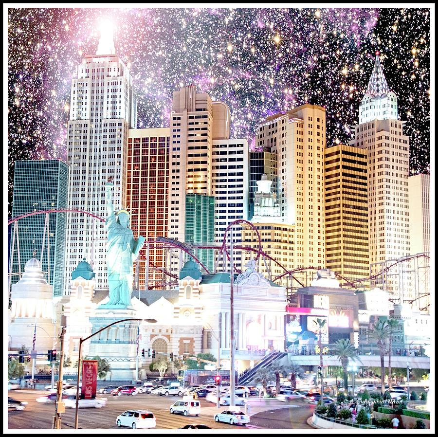 Las Vegas, Nevada, Starry Night by A Gurmankin