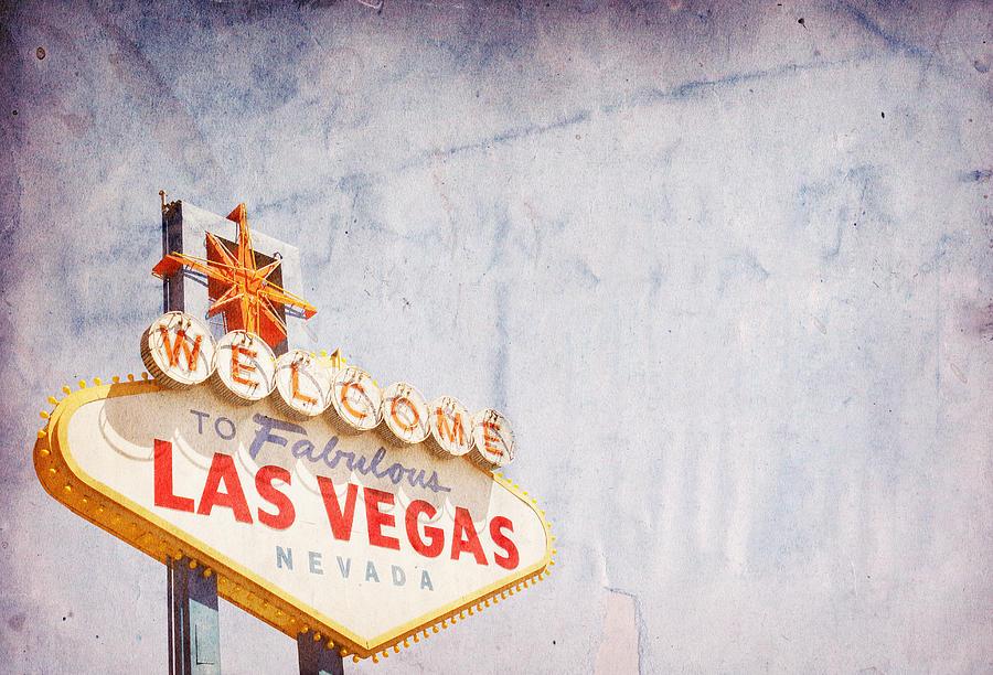 Las Vegas Sign Photograph by Nic Taylor