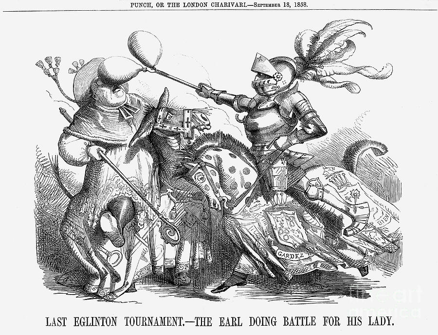 Last Eglinton Tournament. - The Earl Drawing by Print Collector