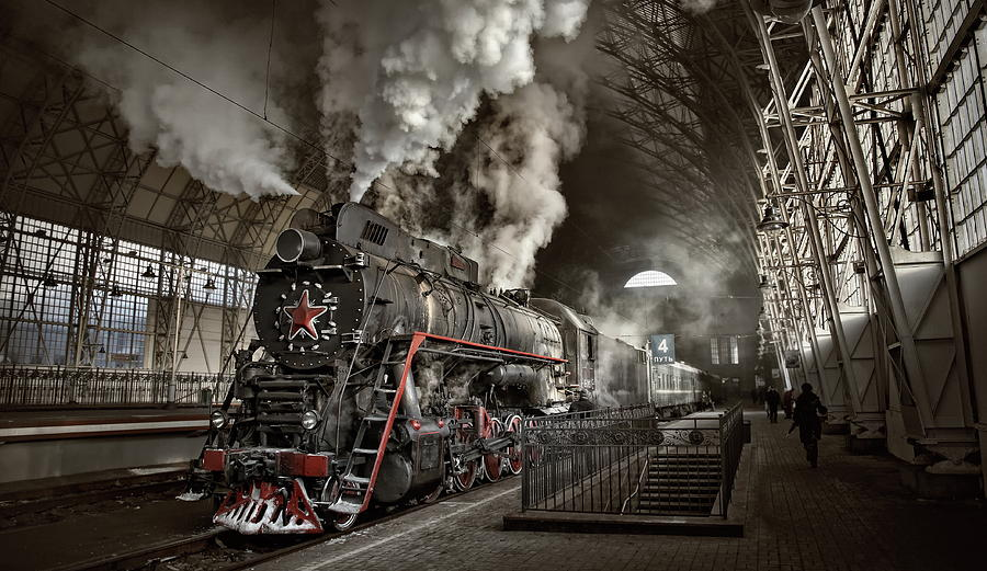 Train Photograph - Last From Mohicans by Dmitry Laudin