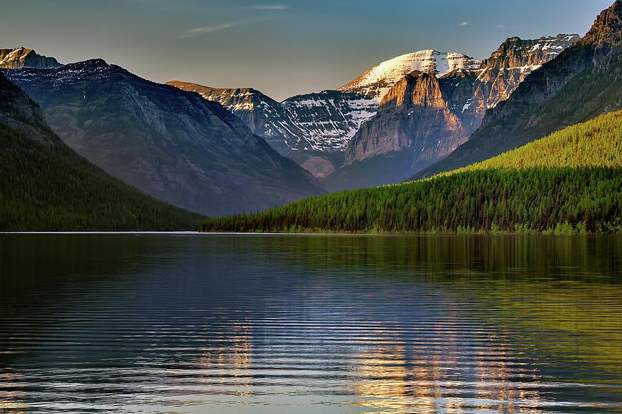 Last Light at Bowman Lake by Rick Berk
