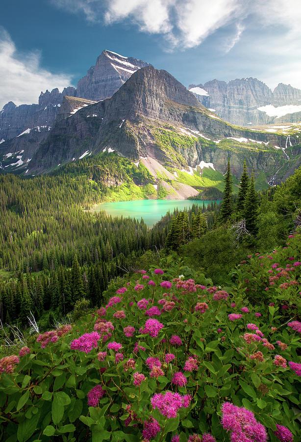Last Light / Grinnell Lake / Glacier National Park  by Nicholas Parker