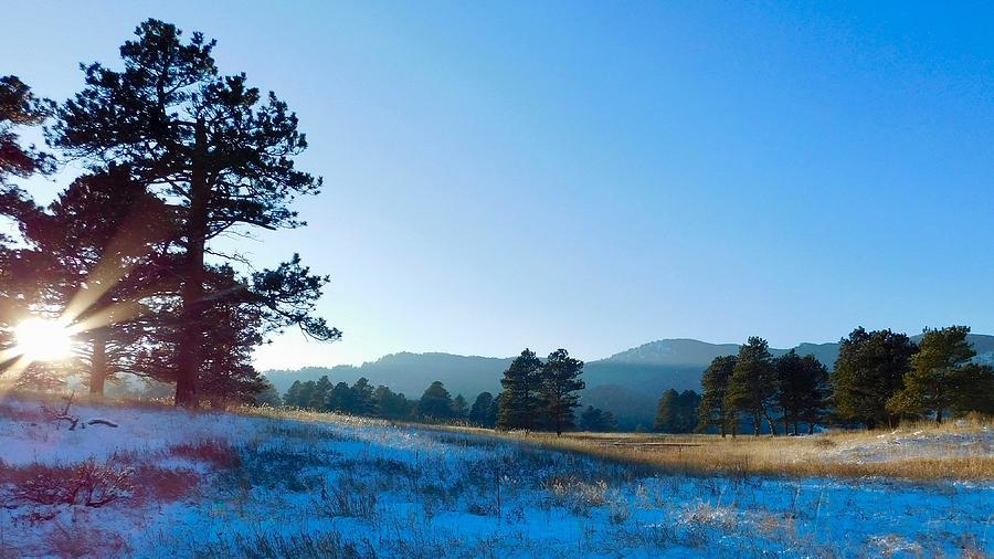 Last Light on Bergen Peak by Dan Miller