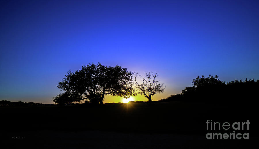 Last Light Texas Hill Country Paradise Canyon Sunset 8053A1 by Ricardos Creations