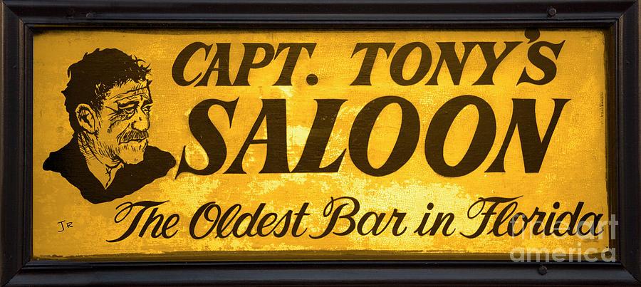 Last Mango In Paris Captain Tonys Saloon Oldest Bar In Florida Photograph