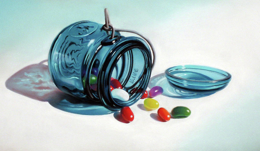 Jelly Beans Pastel - Last Of The Beans by Dianna Ponting