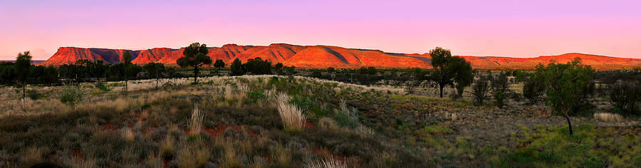 Last Rays of Sun - Kings Canyon Panorama by Lexa Harpell