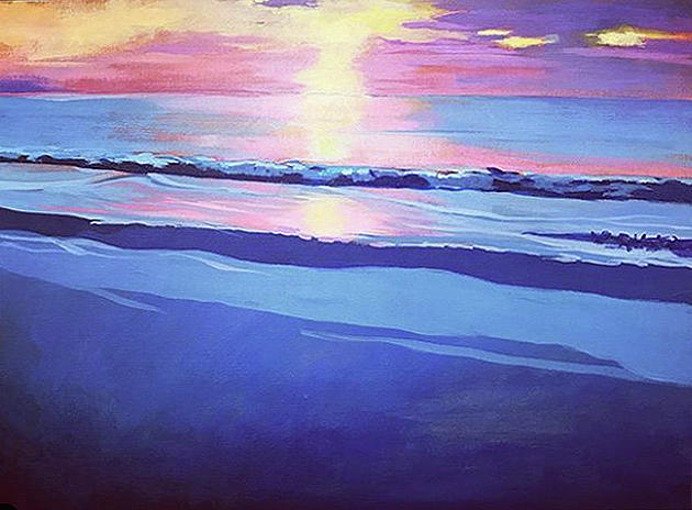 Sunset Painting - Last Seconds by Catherine Twomey