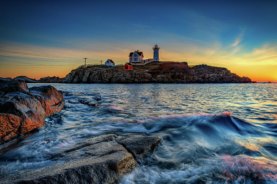 Last Sunrise of Autumn at The Nubble by Rick Berk