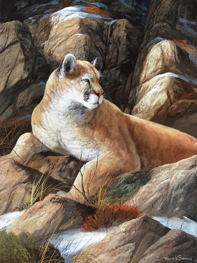 Wildlife Painting - Last Warm Rays by Trevor V. Swanson