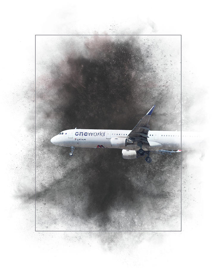 Latam Mixed Media - Latam Brasil Airbus A321-211 Painting by Smart Aviation