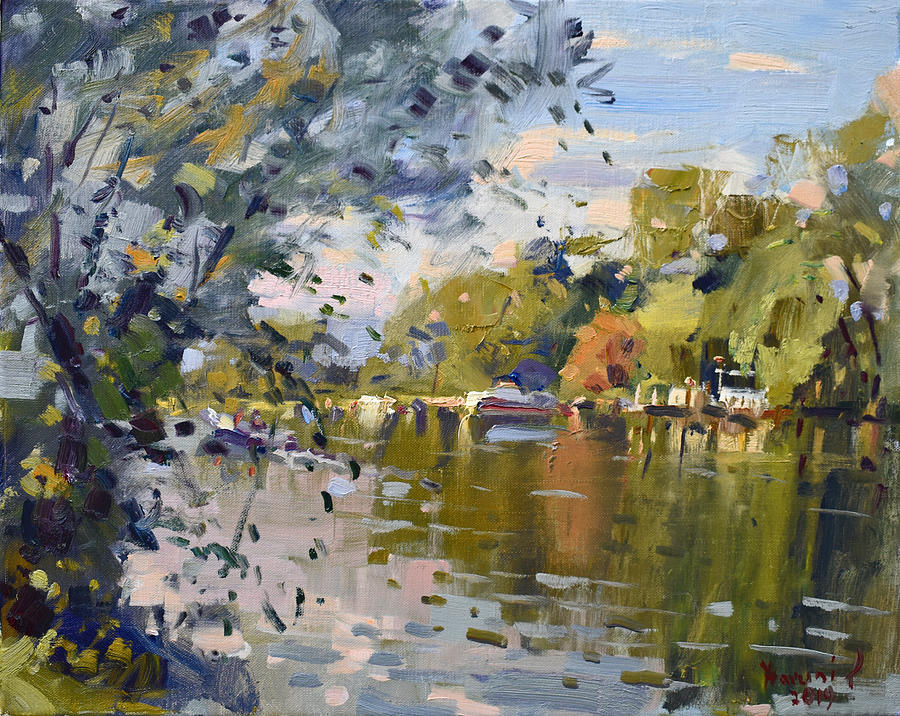 Late Afternoon at Canal by Ylli Haruni