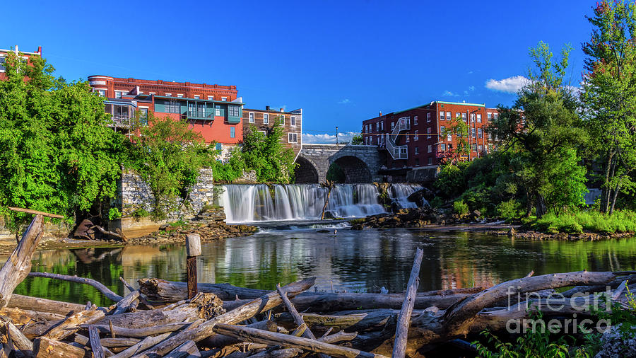 Late afternoon at Middlebury Falls. by New England Photography