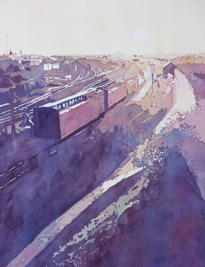 Late Afternoon Freight by Jenny Armitage