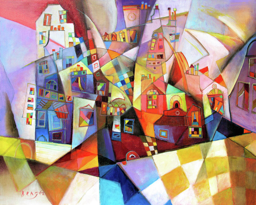 House Painting - Late afternoon by Miljenko Bengez