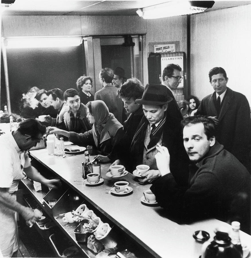Late Night, Rikers Cafe, 1960 Photograph by Fred W. McDarrah