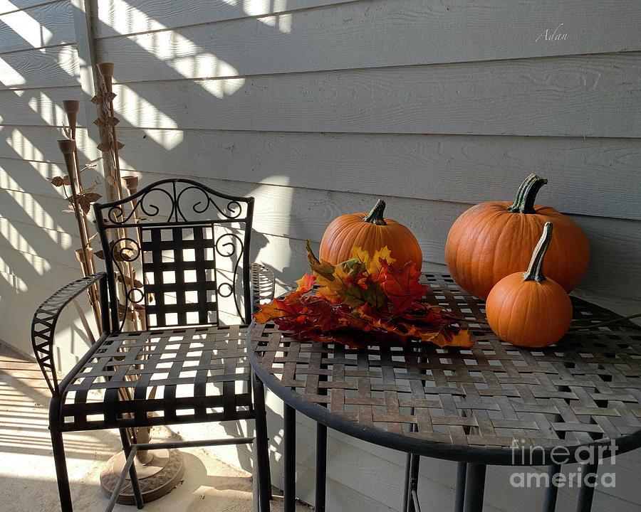 Halloween Pumpkins Photograph - Late October Halloween Feast by Felipe Adan Lerma