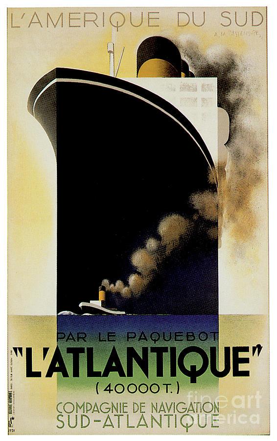LAtlantique 1931 by Adolphe Mouron Cassandre