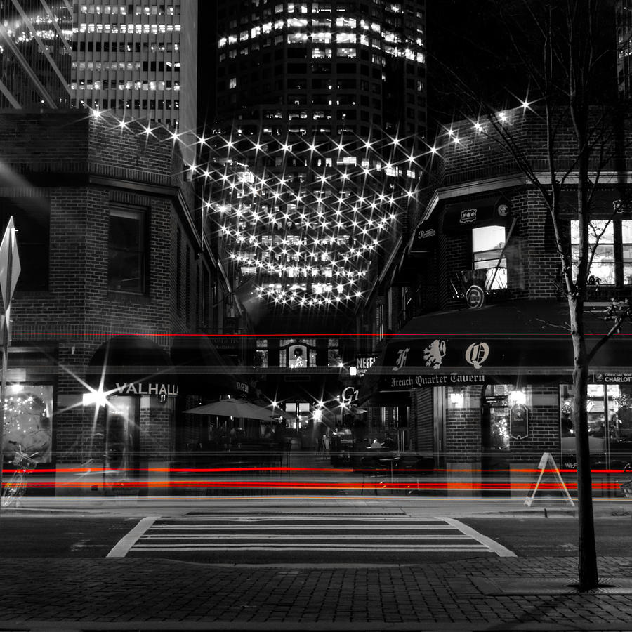 Light Photograph - Latta Arcade With Red Stripes by Christine Buckley