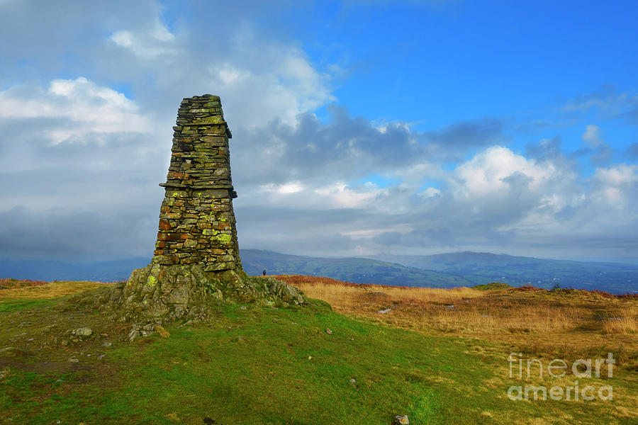 Cairn Photograph - Latterbarrow In Lake District National Park Cumbria by Louise Heusinkveld