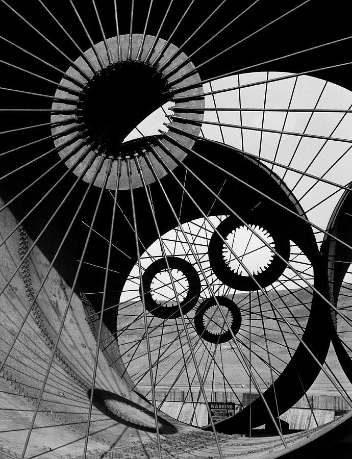 Lattice Like Support Struts Inside Photograph by Margaret Bourke-white