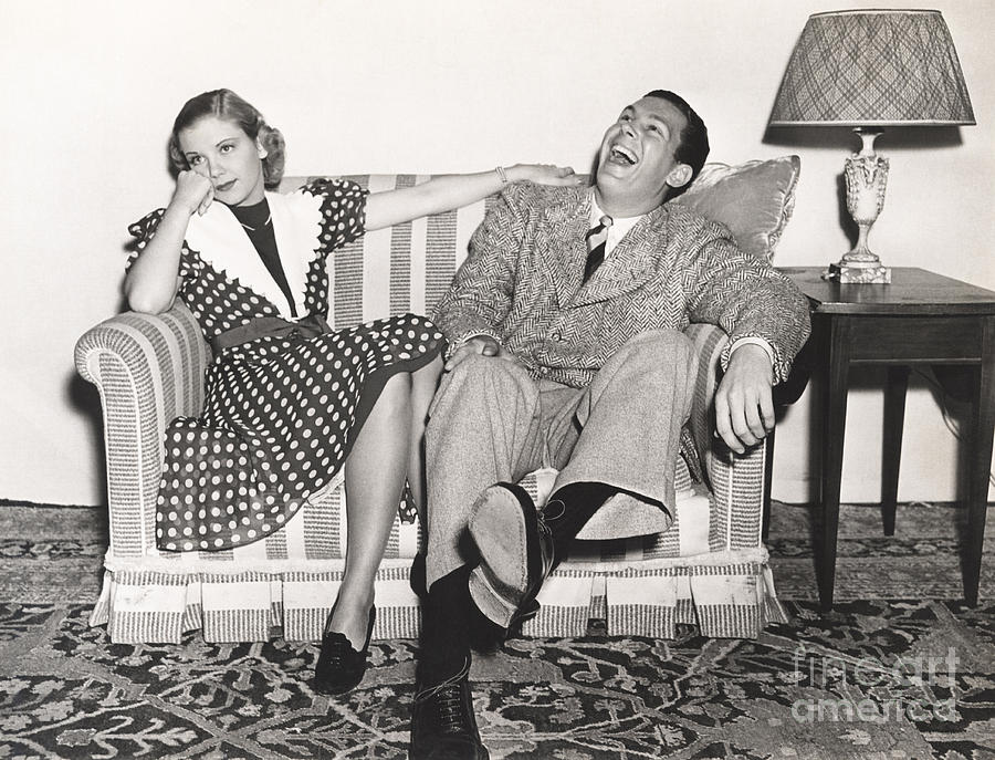 Dress Photograph - Laughing At His Own Jokes by Everett Collection