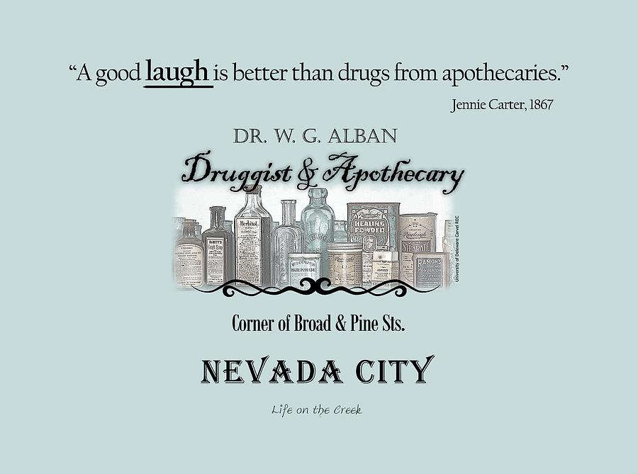 Apothecary Digital Art - Laughter Is The Best Medicine - Apothecary by Lisa Redfern