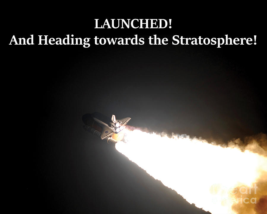 Space Shuttle Photograph - LAUNCHED and heading towards the Stratosphere by G Matthew Laughton