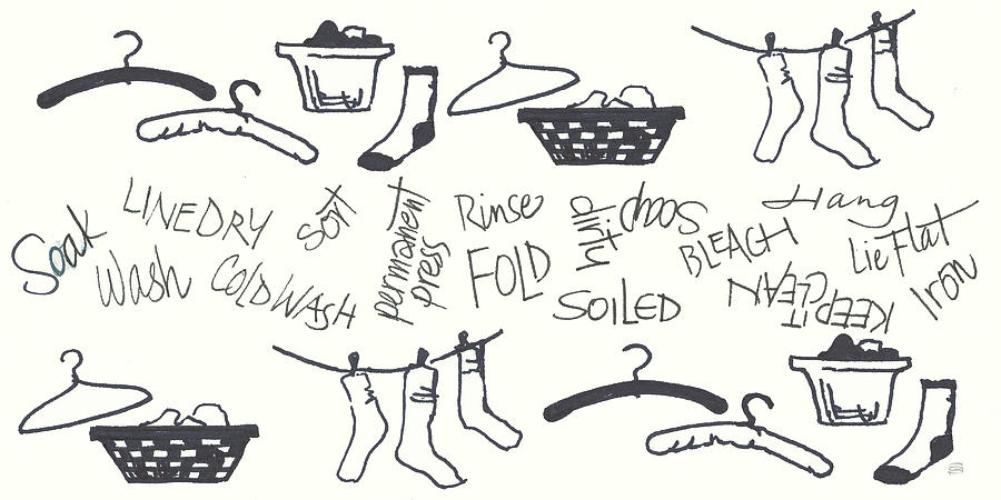 Baskets Painting - Laundry Room Sayings II by Chris Paschke