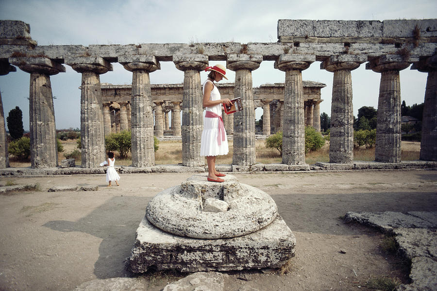Laura Hawk In Paestum Photograph by Slim Aarons