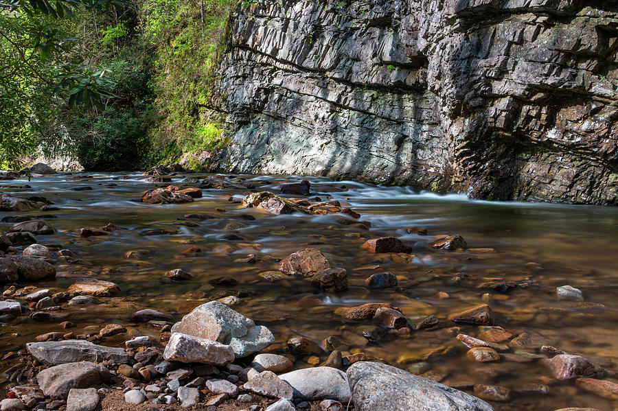 Long Exposure Photograph - Laurel Fork In Spring I by Jeff Severson