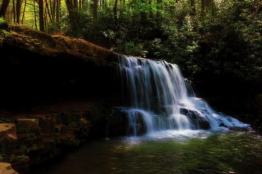 Laurel Run Waterfalls in Tennessee by Dee Browning