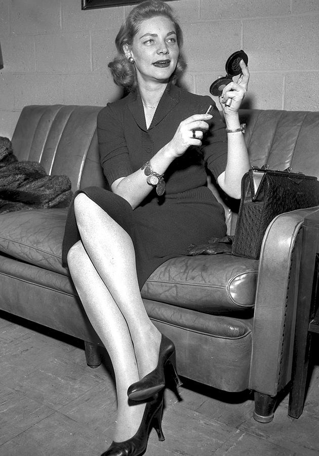 Lauren Bacall At Idlewild Airport By New York Daily News Archive