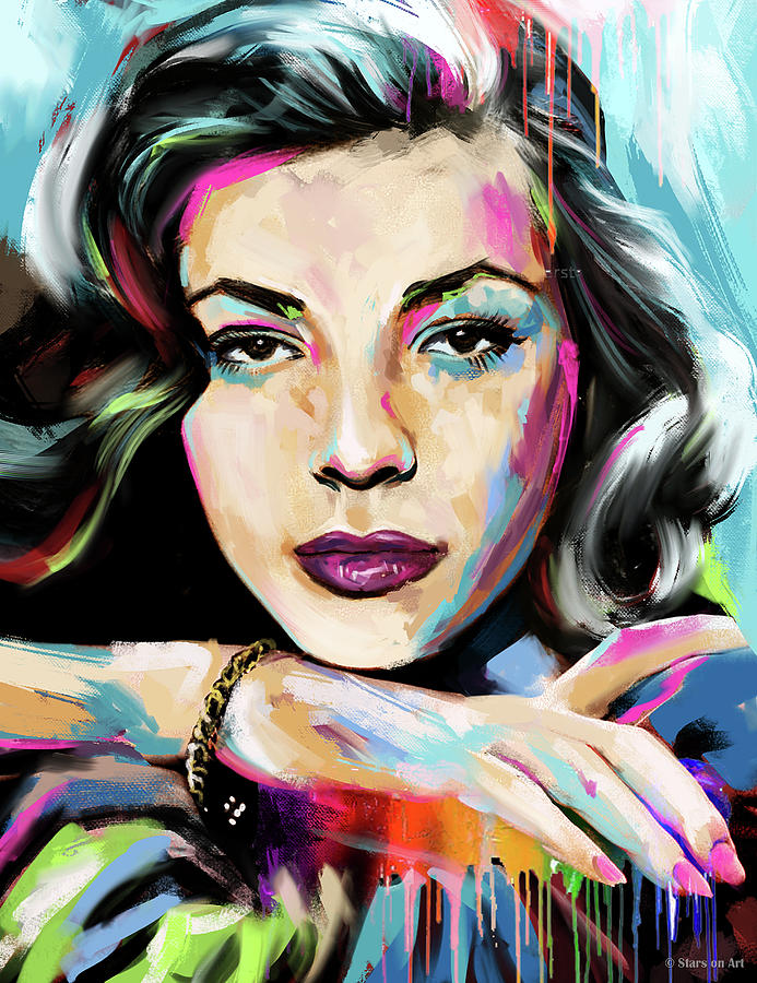Lauren Bacall Portrait Painting