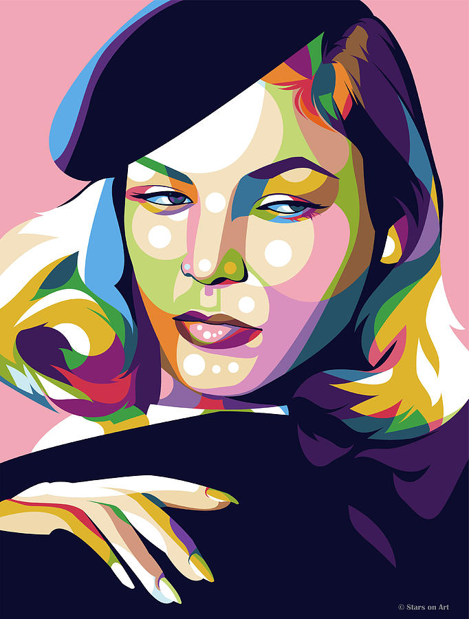 Lauren Bacall by Stars on Art
