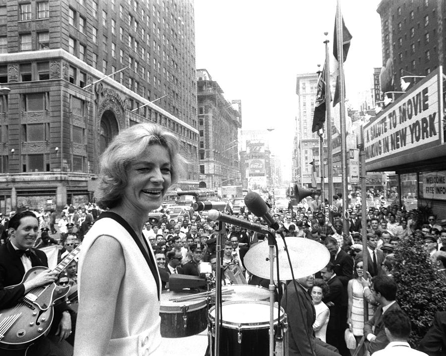 Lauren Bacall Takes Turn At Microphone Photograph by New York Daily News Archive