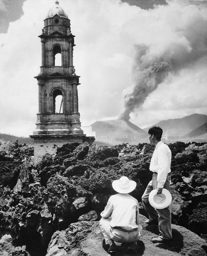 Lava Covers Church Photograph by Evans