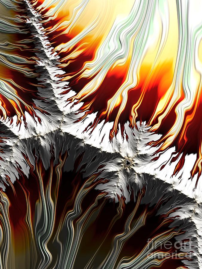 Lava Fire and Ice Fractal Abstract by Rose Santuci-Sofranko