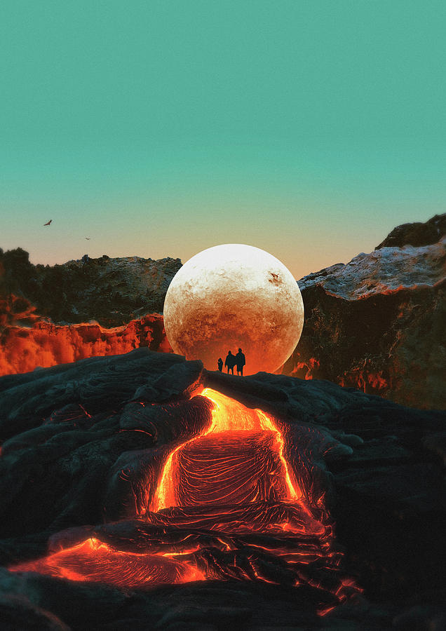 Collage Digital Art - Lava by Fran Rodriguez