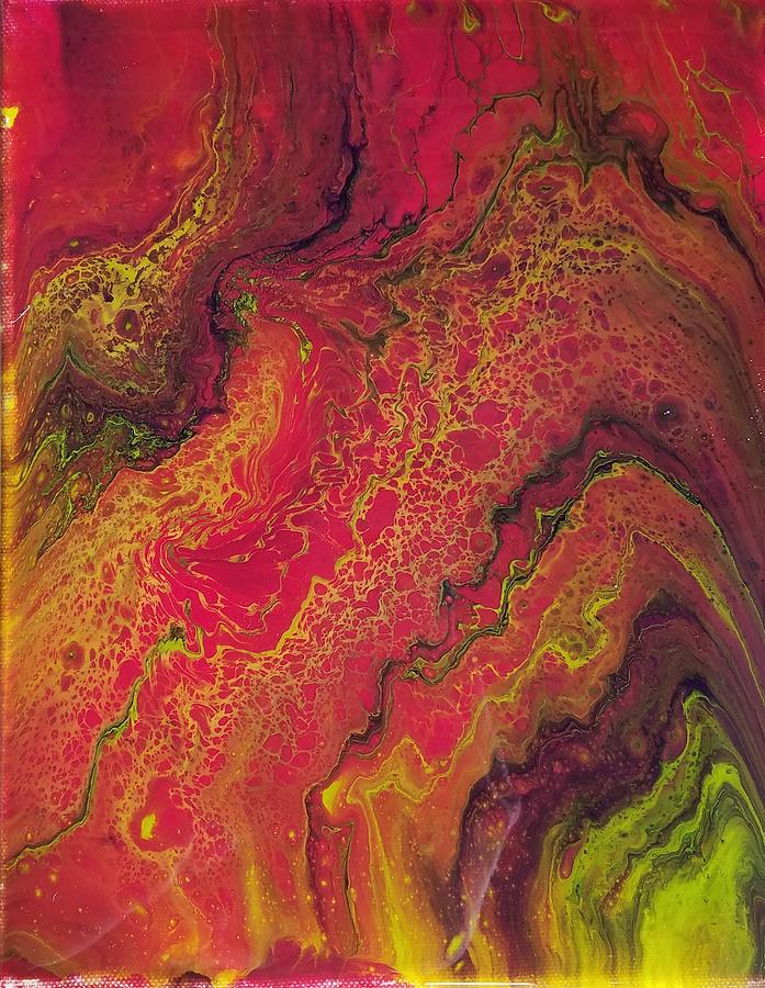 Pink Painting - Lava Geode by Allison Fox