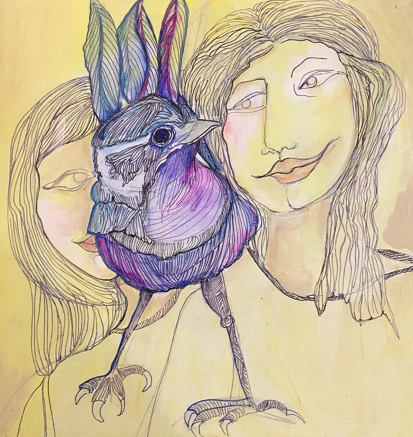 Lavender Bird Of Happiness By Rosalinde Reece