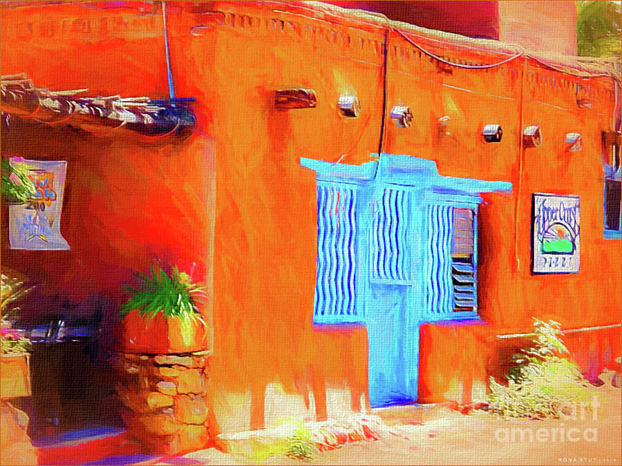 Lavender Blue Door Mixed Media