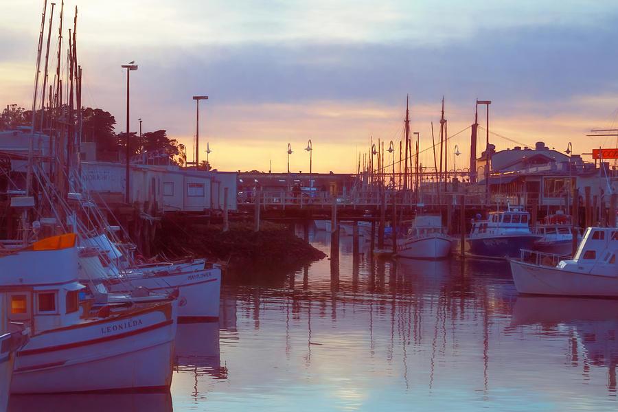 Lavender Evening at the Marina by Bonnie Follett