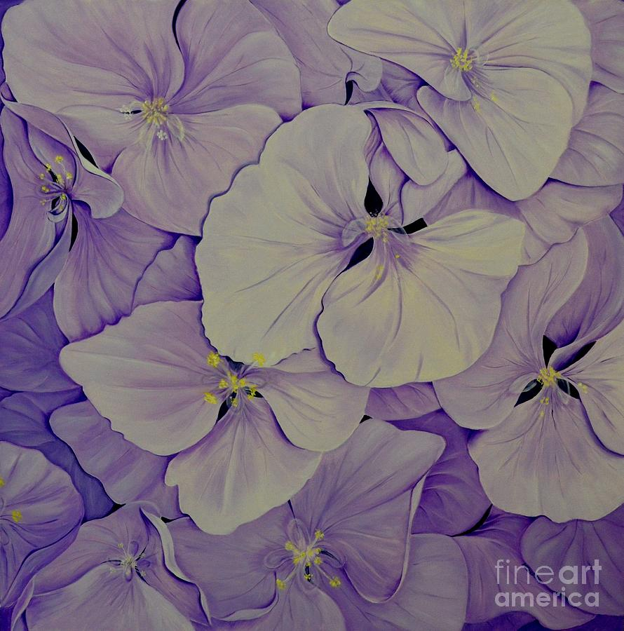 Lavender Hydrangea - 1 by Mary Deal