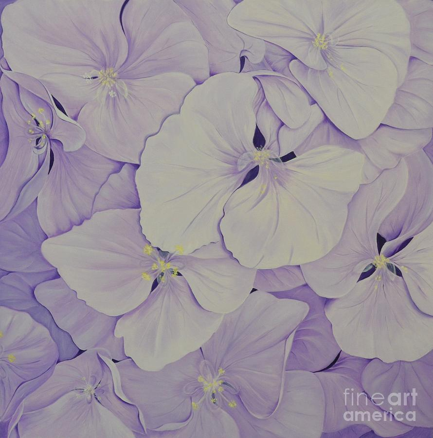 Lavender Hydrangea - 2 by Mary Deal