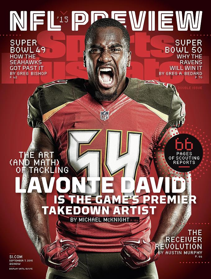 Lavonte David The Art And Math Of Tackling, 2015 Nfl Sports Illustrated Cover Photograph by Sports Illustrated
